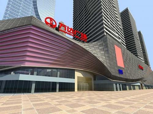 万达广场幕墙铝单板工程