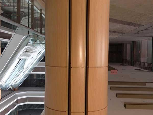 木纹铝单板包柱