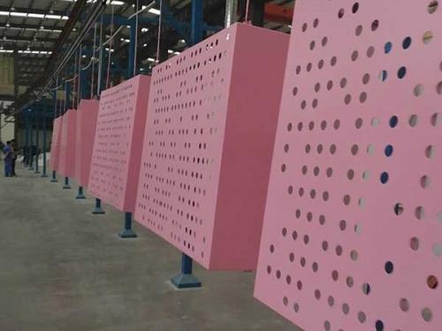 粉红色铝蜂窝复合板