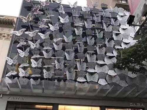 蝴蝶型门头铝蜂窝板