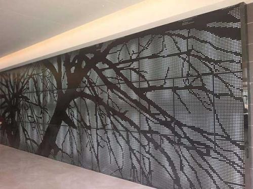 树形雕花铝单板